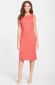 930c2c82747 Marc New York by Andrew Marc Perforated Jersey Sheath Dress
