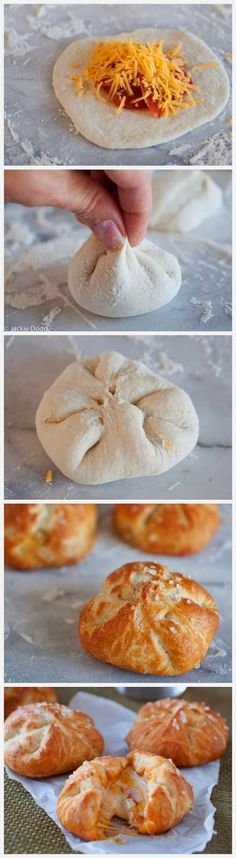 Pizza Stuffed Pretzel Rolls | Cooking Blog