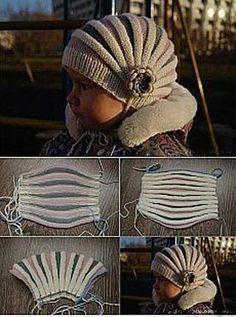 Crochet ideas that you'll love Beanie Knitting Patterns Free, Baby Hats Knitting, Loom Knitting, Knitting Designs, Free Knitting, Knitted Hats, Diy Crochet, Crochet Baby, Diy Crafts Knitting
