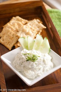 meandering eats: My Latest Addiction: Cucumber Dill Dip