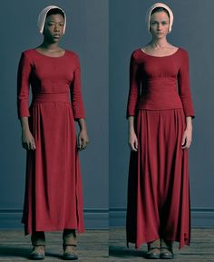 Handmaid's Tale Outfit Idea samira wiley and alexis bledel in their handmaids tale Handmaid's Tale Outfit. Here is Handmaid's Tale Outfit Idea for you. Handmaid's Tale Outfit serena joy costume the handmaids tale costume halloween co. Handmaids Tale Costume, A Handmaids Tale, Joy Costume, Costume Ideas, Adult Costumes, Halloween Costumes, Handmade Tale, Red Winter Coat, Fancy Dress