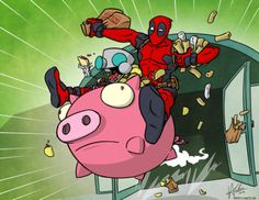 Deadpool and Gir heisting a taco stand I can die happy...