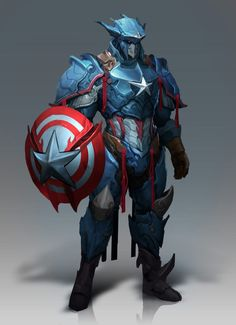 Awesome Fantasy-Inspired Redesigns Featuring Thor, Captain America, and Black Panther — GeekTyrant