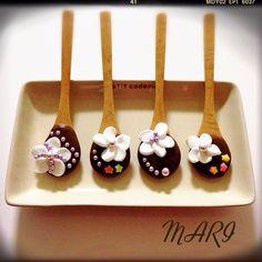 マシュマロフラワーでスプーンチョコ♪ by まり at 2014-02-10