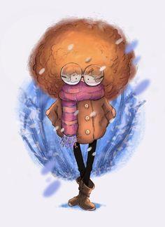 Winter  #digitalcolor #color #winter #snow #procreate