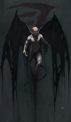 Demon Dean fan art by 野生ID Gothic Fantasy Art, Fantasy Artwork, Fantasy Character Design, Character Art, Supernatural Fan Art, Satanic Art, Angel Warrior, Vampire Art, Angel And Devil