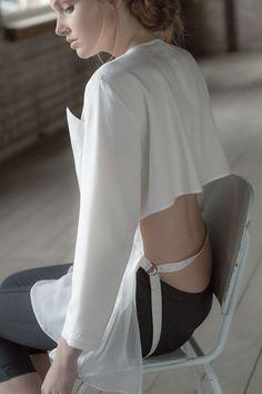 Back detail Keeper by Yuka&Tristan Ballet Shoes, Ballet Skirt, Sports Luxe, Fashion Labels, Minimal Fashion, Style Me, Women Wear, Chic, Easel