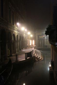 Foggy night in Venice...
