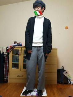 こんばんわ! 今日はずっと憧れてたベレー帽と丸メガネを合わせました!! ワイドパンツを履いたのでダボ