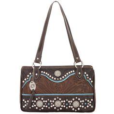 8550826 American West Women's Hayloft Purse - Chestnut Brown
