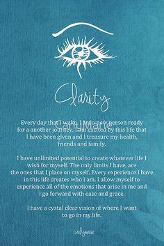 Affirmation - Clarity by CarlyMarie