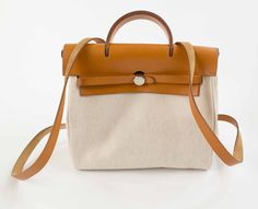 Hermes SOLD! Herbag PM Toile leather 2 in 1Backpack Bag. - http://www.pandoradressagency.com/latest-arrivals/product/hermes-4/