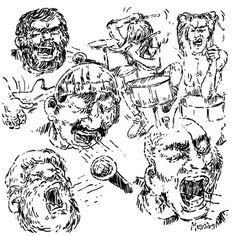 ManolisZoulakis: Sketch for the great gig, Mavro Gala-You!3/11/17!
