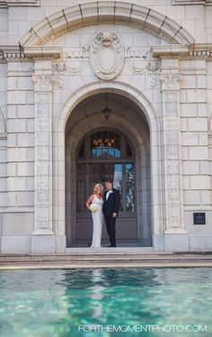 Bride and Groom at Chase Park Plaza Hotel