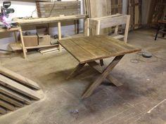Cross legged table 1000 x 1000 £120