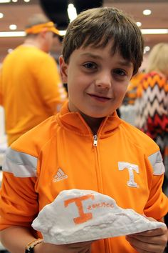 I would have guessed your a Tennessee Vol fan. Something about the orange and white. Draw. Erase. Recreate. The UT Dry Erase Rock.