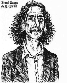 Frank Zappa by R. Crumb