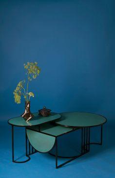 "Lara Bohinc's Orbit tables express the ""simplicity of Bauhaus design"" - Lara Bohinc's Orbit tables express the ""simplicity of Bauhaus design"" Lara Bohinc's Orbit tables express the ""simplicity of Bauhaus design"" Bauhaus Interior, Architecture Bauhaus, Bauhaus Furniture, Architecture Design, Art Bauhaus, Design Bauhaus, Bauhaus Style, Bauhaus Textiles, Espace Design"