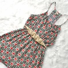 Needle & Thread Racer Back Sundress Throw on a gorgeous lightweight dress and let the summer fun begin! Medallion pattern, racer back, elastic waist, no flaws, shown on a 6-8 dress form. High end brand, very well made. Needle & Thread Dresses