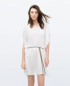 Image 2 of FULL TUNIC WITH PLAITED BELT from Zara