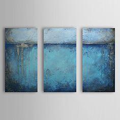 Hand geschilderd olieverfschilderij Abstract Met gestrekte frame Set van 3 1308-AB0544 – EUR € 74.24