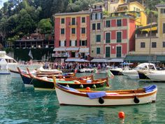 PORTOFINO:  The harbour http://destinationfiction.blogspot.ca/2015/03/resort-towns-of-italian-riviera.html