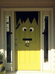 Frankenstein Door Decor
