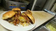 Mini bacon cheeseburger