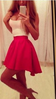Sexy Scoop Neck Sleeveless Dress. LOVE the skirt