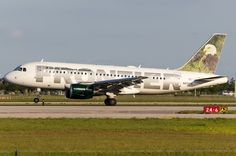Frontier Airlines Airbus A319-111 N932FR 'Sarge the Eagle'