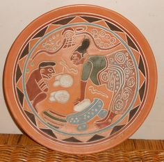 Hey, I found this really awesome Etsy listing at https://www.etsy.com/listing/260512211/vintage-mayan-aztec-wall-plate-pottery