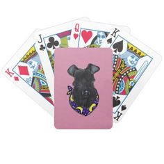 Kerry Blue Terrier Bicycle Playing Cards - personalize design idea new special custom diy or cyo