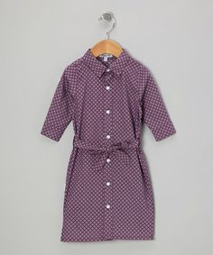 Take a look at this Purple Circles Shirt Dress - Infant, Toddler & Girls on zulily today!
