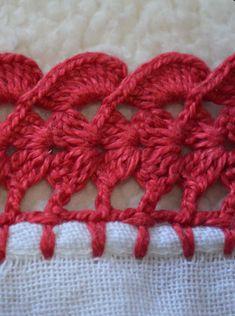 Crochet Edging Tutorial, Crochet Border Patterns, Zig Zag Crochet, Crochet Instructions, Crochet Diagram, Diy Crochet, Crochet Doilies, Crochet Stitches, Crochet Videos