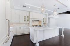 White Luxury Kitchen Inspiration by Marc Julien Homes.
