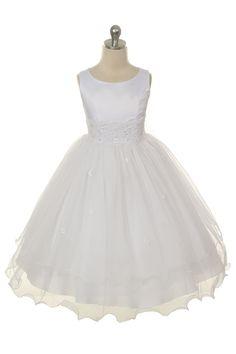 Girls Satin Tulle Dress