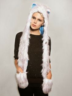 @SpiritHoods (The Original) #fauxfur #fakefur #ecofur #hats #accessories #fashion #style #fashionblogger #photography #cool #LA #california #trend #winer #peta #white #black #animal  Spirit Hoods, fake faux fur 100%acrylic animal friendly accessories hat, cappelli copricapi  pelliccia ecologica  divertenti  animali, fashi...