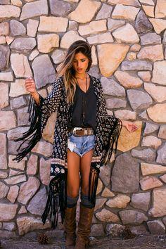Tassel Kimono #soleilblue
