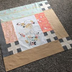 The back of the girlie quilt--who doesn't love a little doe?