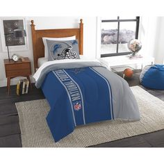 Use this Exclusive coupon code: PINFIVE to receive an additional 5% off the Detroit Lions NFL Twin Comforter Set at SportsFansPlus.com