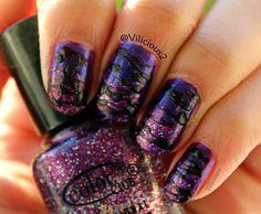 Purple Sugar Spun Nail Art by Vilicious2