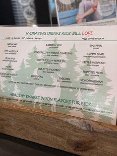 Sign on the smoothie shop, Monticello GA