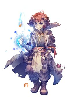 f Halfling Rogue Arcane Trickster Dual Shortsword Mouse companion Traveler med Fantasy Character Design, Character Creation, Character Design Inspiration, Character Concept, Character Art, Rogue Character, Dnd Halfling, Halfling Rogue, Dungeons And Dragons Characters