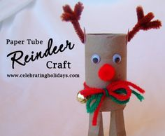 Toilet Paper Tube Christmas Craft | Celebrating Holidays