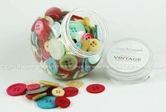 Vintage Buttons by Color Theme Buddy Holiday, Popcorn Mix, Homemade Popcorn, Hot Cocoa Mixes, Hot Chocolate Mix, Christmas Jars, Christmas Chocolate, Holiday Cakes, Button Crafts
