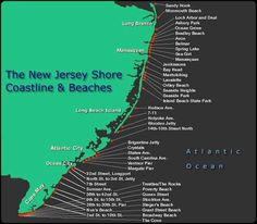 would love to frame an old jersey shore map like this for the