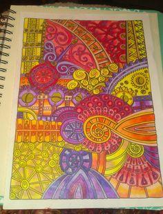 zentagles color tangled up in rainbows zenspitation doodles colors adult coloring book
