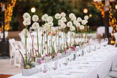 Hochzeit gesteck Ideen-Tischdekoration Tischdecke Blumensträuße
