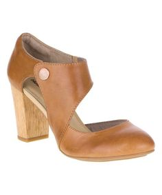 Look at this Hush Puppies Tan Devynn Sisany Leather Pump - Women on #zulily today!