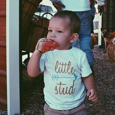 Little Stud kid's and baby graphic tee - Little Beans Clothing @mama_washburn hipster baby, baby boy clothing, baby boy tshirts, kids fashion